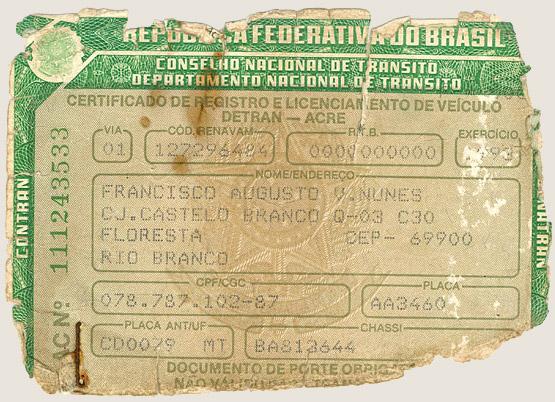 Licença de veículo (1993)