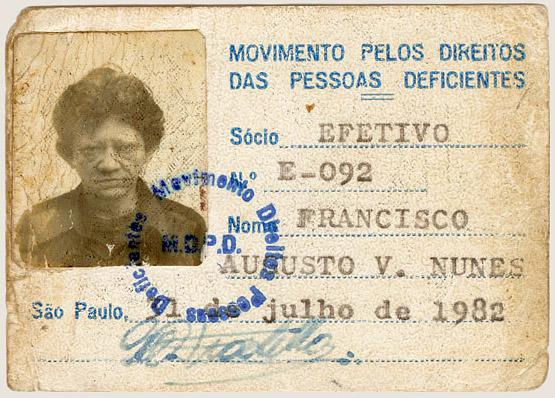 Carteira de sócio de movimento social (1982)