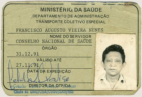 Carteira do CNS (1991)