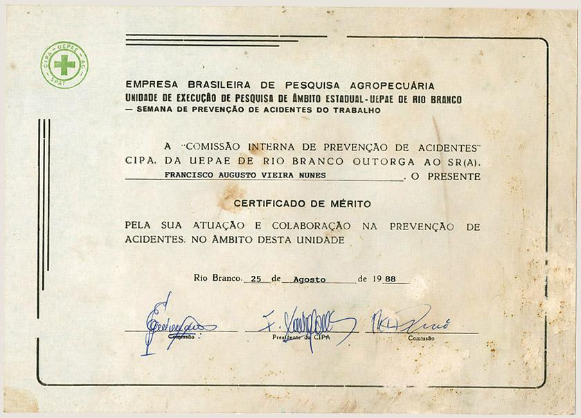 Certificado de Mérito (1988)