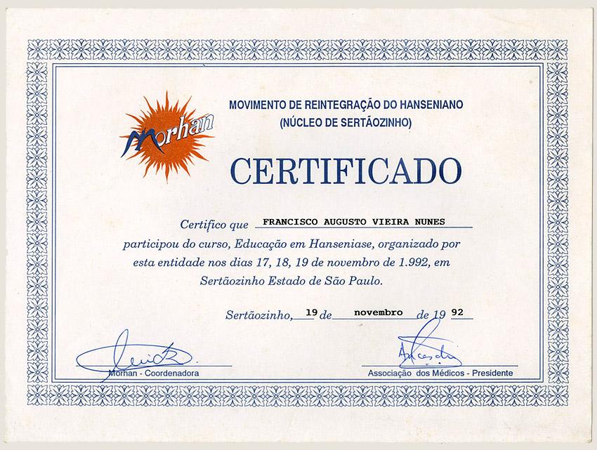 Curso de Educação em Hanseníase do Morhan (1992)