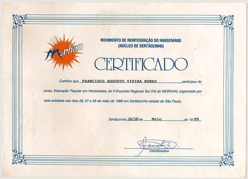 I Encontro Regional Sul do Morhan (1989)