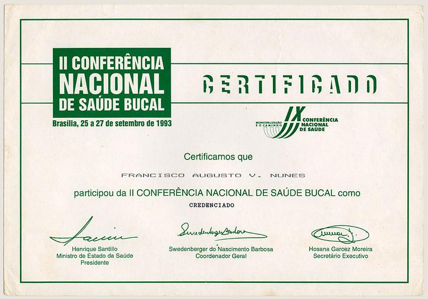 II Conferência Nacional de Saúde Bucal (1993)