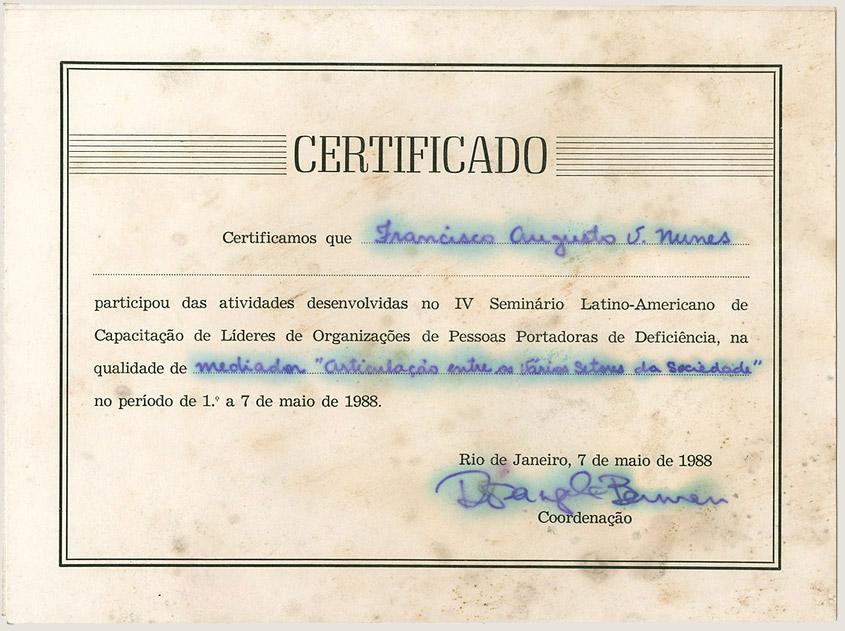 IV Seminário Latino Americano (1988)