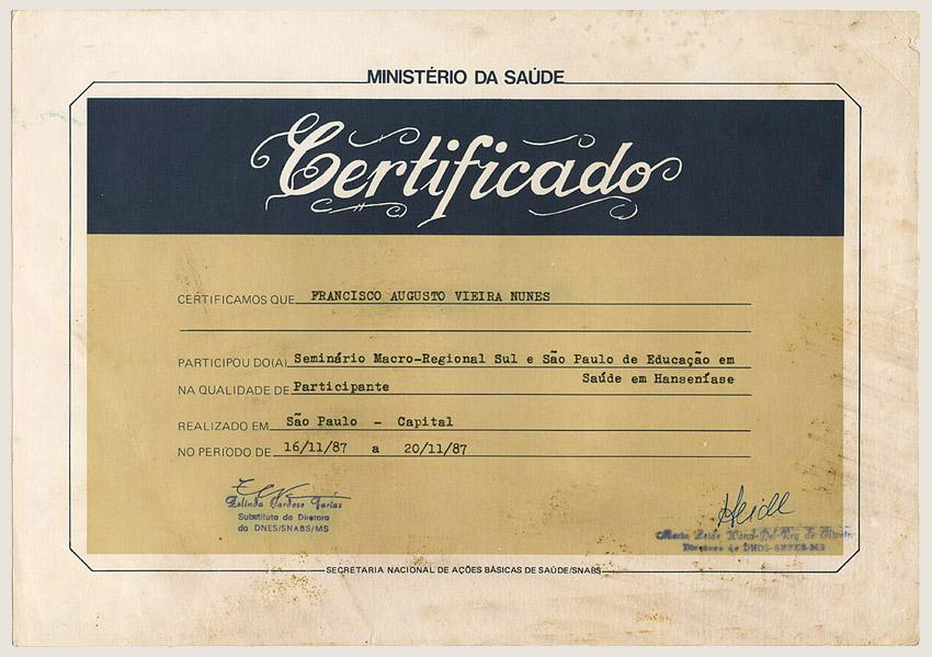 Seminário Macro-Regional Sul e São Paulo – SNABS (1988)