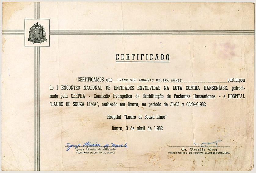 I Encontro Nacional de Entidades – CERPHA (1982)
