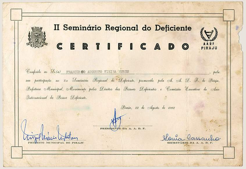 Seminário Regional do Deficiente (1982)