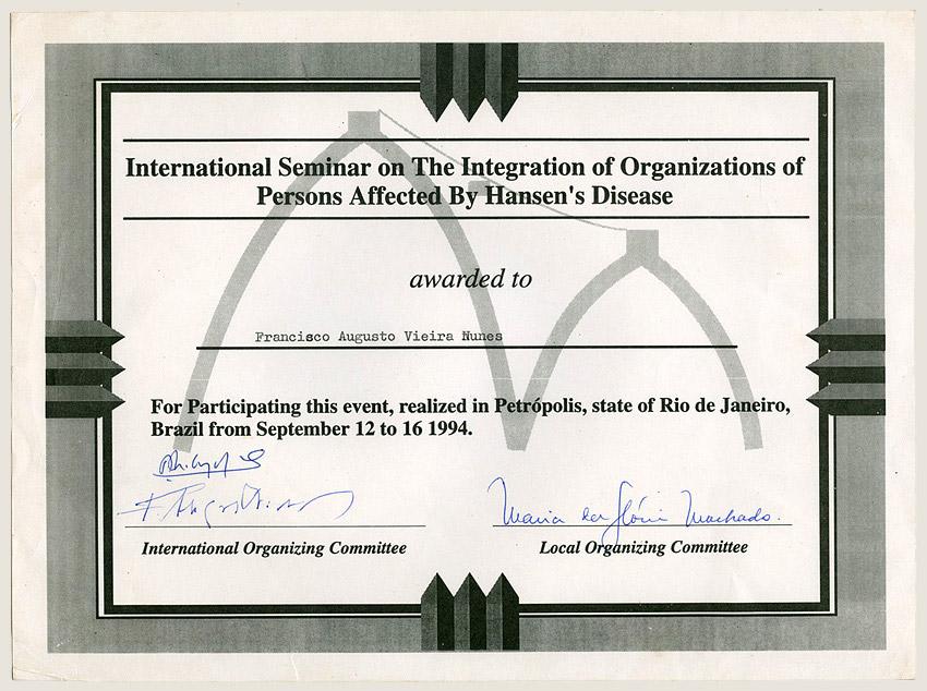 Seminário internacional no Rio de Janeiro (1994)