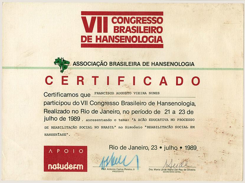 VII Congresso Brasileiro de Hansenologia (1989)