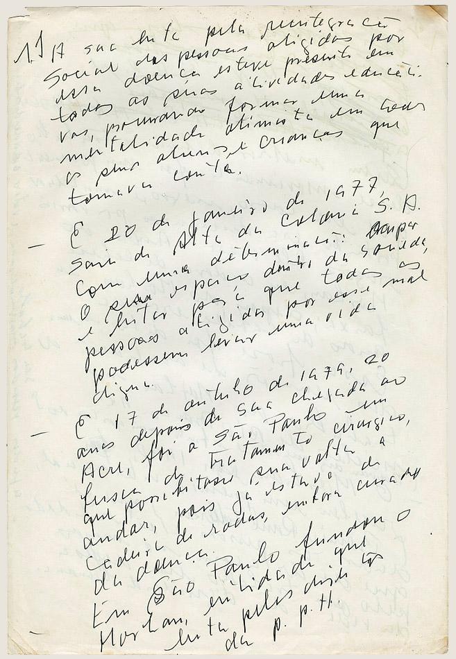 Curriculo Manuscrito