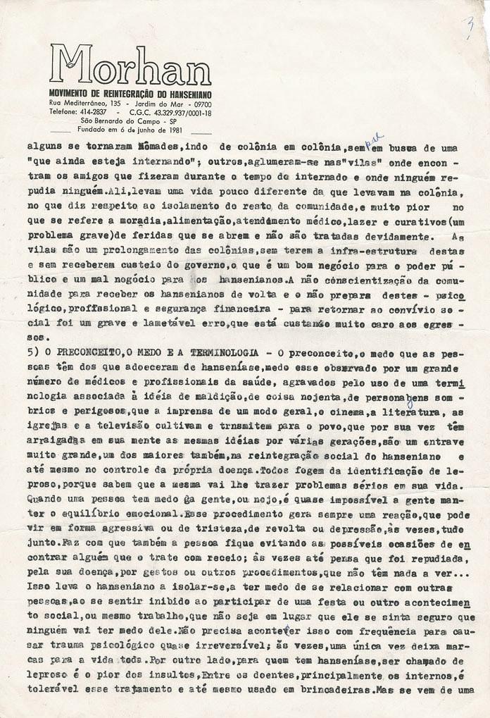 Artigo: O ponto de vista do hanseniano sobre sua reintegração (1981-1983)