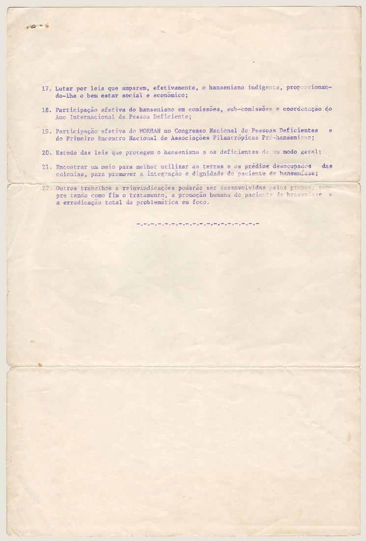 Morhan:  Propostas do I Encontro Nacional do Morhan