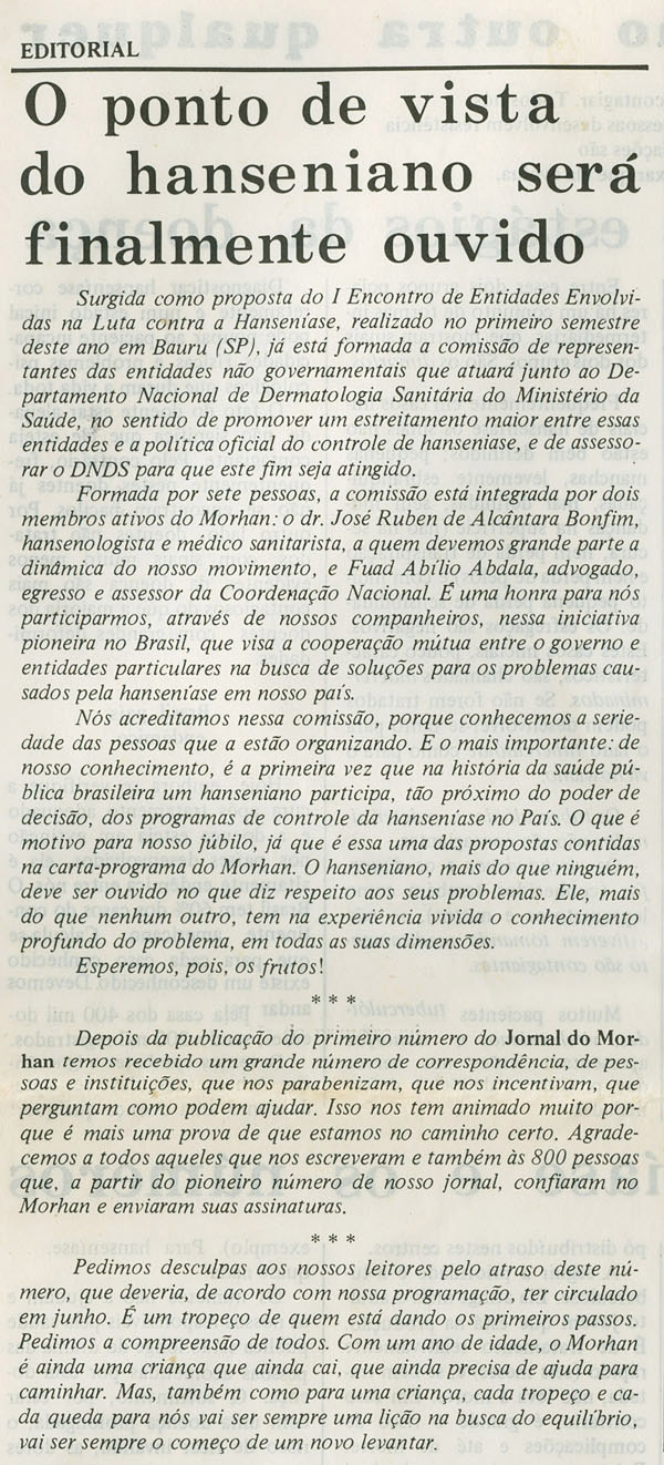 Morhan: Jornal do Morhan número 1