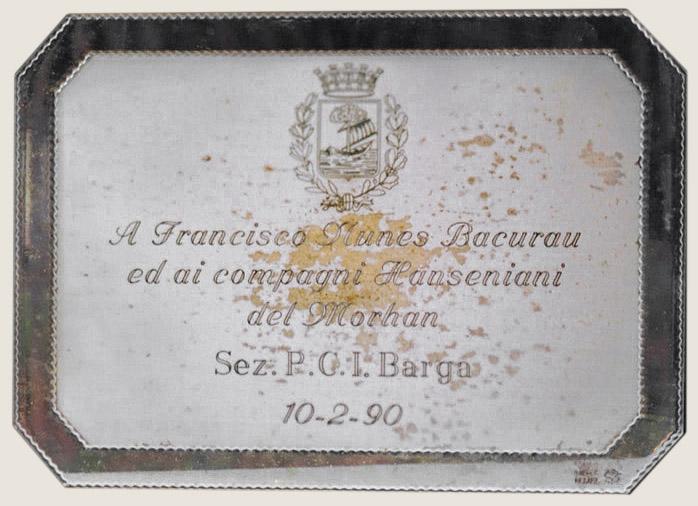 Homenagem recebida na Itália (1990)