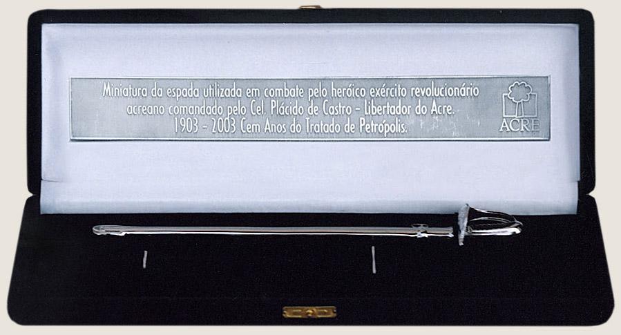 Espada de Plácido de Castro, o libertador do Acre