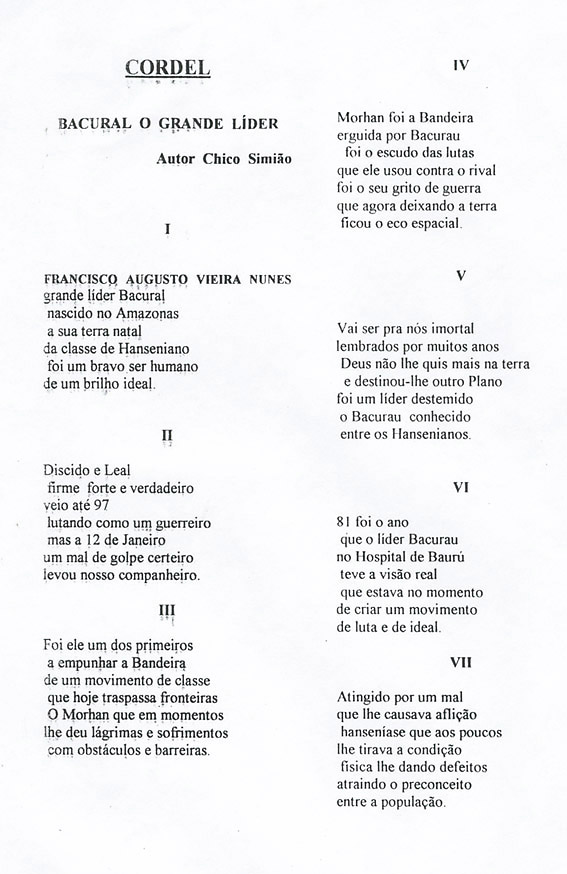 Literatura de cordel feita por Chico Simião