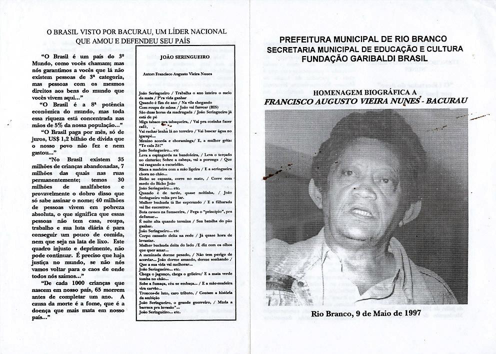 Panfleto da prefeitura de Rio Branco