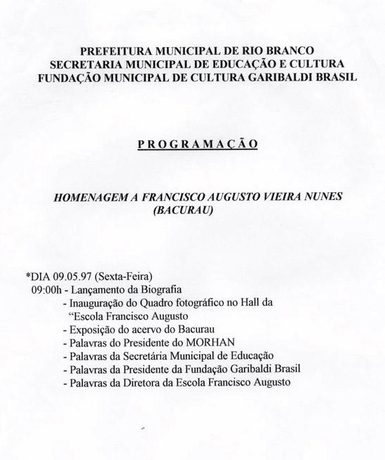 Evento da prefeitura de Rio Branco (1997)