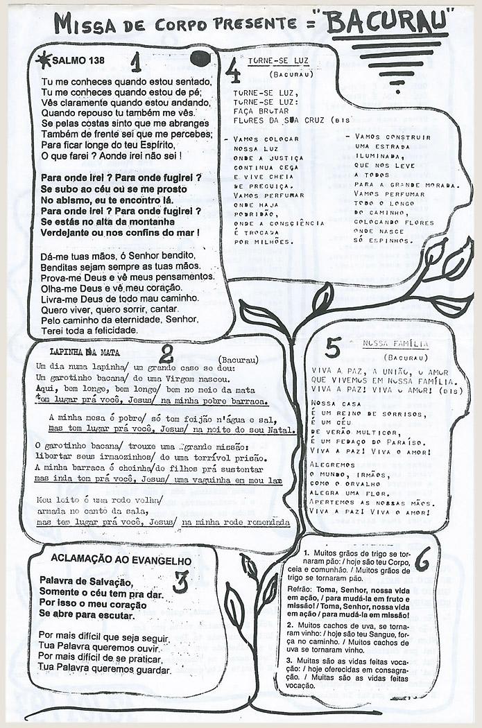 Folheto da missa de corpo presente (1997)