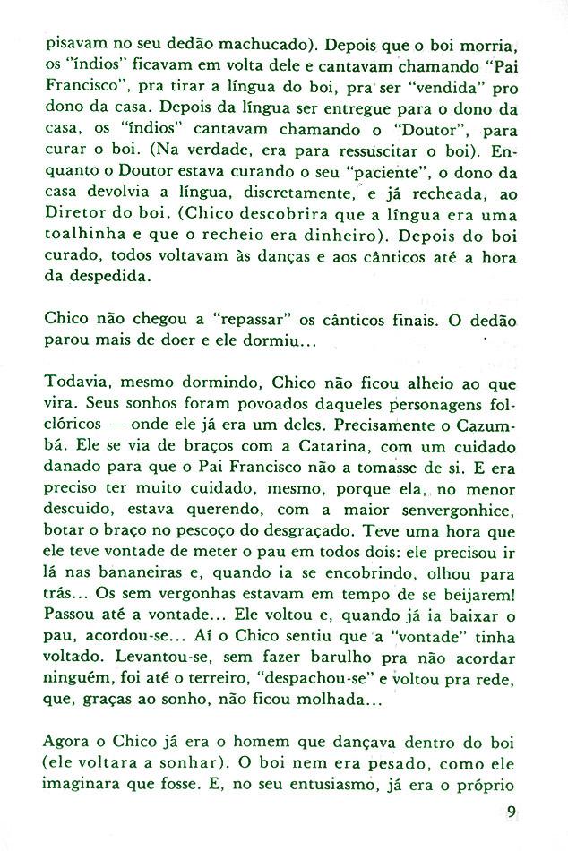 Livros publicados: Chico Boi (1979)