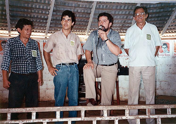Com Lula no palanque do PT (1992)