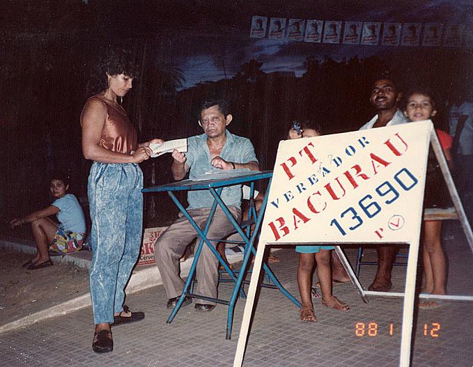 Em campanha para Vereador (1988)