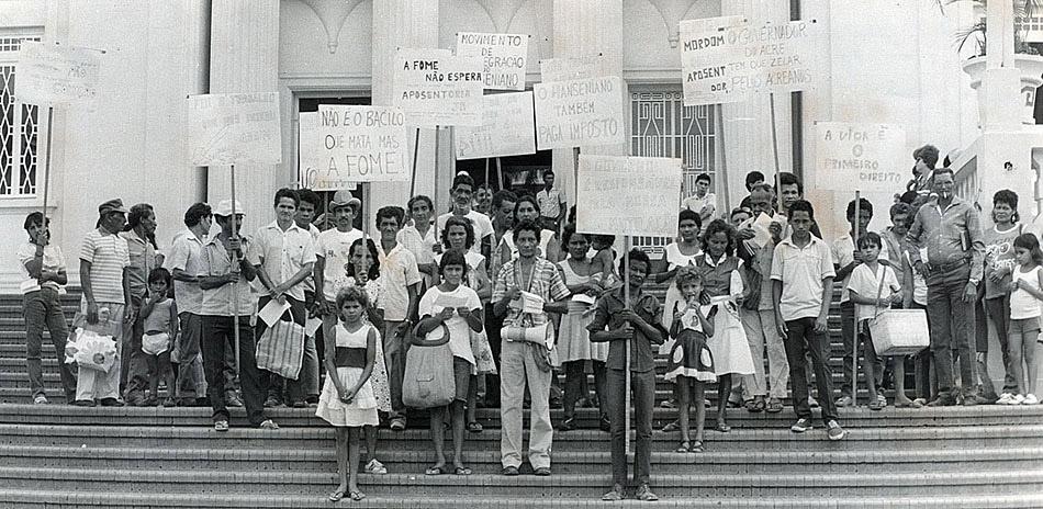 Manifestação em frente à Assembléia Legislativa (2) (1985)