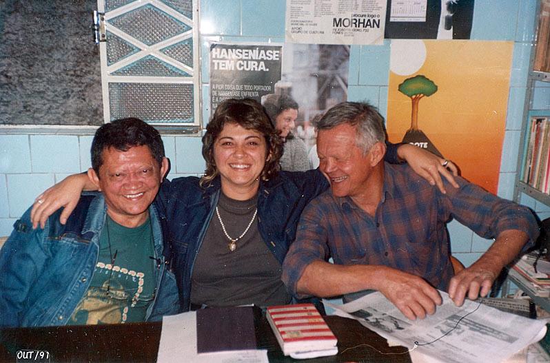 Com amigos no Morhan de São Paulo (1991)