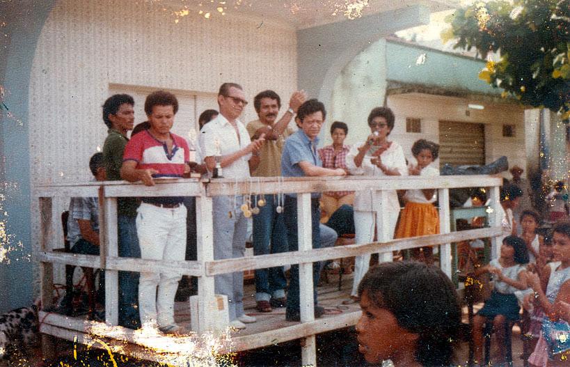 Em Manicoré,com o prefeito da cidade (1986)