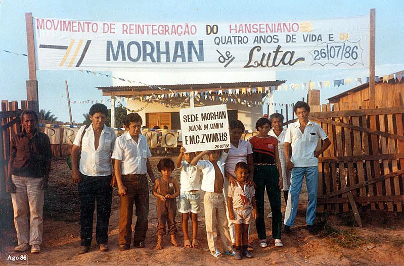 Festa de inauguração da sede do Morhan (1986)